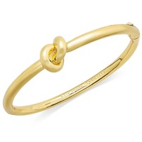 kate spade new york Bracelet, 12k Gold-Plated Sailor's Knot Hinge Bangle Bracelet
