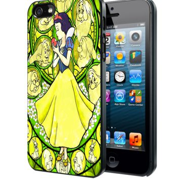 Stained Glass Snow White Samsung Galaxy S3 S4 S5 S6 S6 Edge (Mini) Note 2 4 , LG G2 G3, HTC One X S M7 M8 M9 ,Sony Experia Z1 Z2 Case