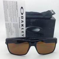 New OAKLEY Sunglasses TWOFACE OO9189-03 60-16 Black Frame w/ Dark Bronze lenses