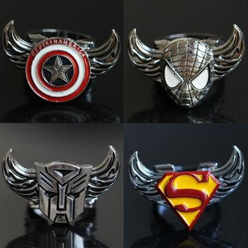 PEAPIX3 Featured Store Captain America, superman iron man new rotating ring ring = 1946134596