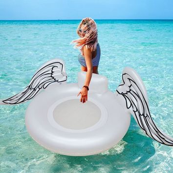 2018 New White Angel Pool Float angel wings Swimming ring Inflatable Pool Float Tube Raft Summer Water Toy Air Mattress Floating