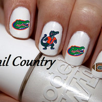 50pc Florida Gators Football Nail Decals Nail Art Nail Stickers Best Price On Etsy NC214