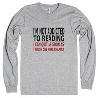 I'm Not Addicted To Reading-Unisex Heather Grey T-Shirt