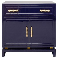 Worlds Away Marcus Lacquer Cabinet