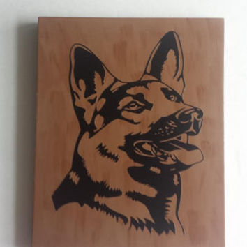 German Shepherd - Wood/Vinyl Sign
