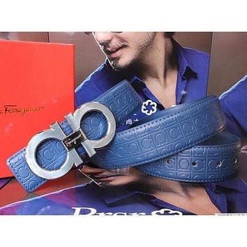 Boys & Men Salvatore Ferragamo Men Fashion Smooth Buckle Belt Leather Belt