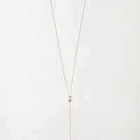 Geo Charm Drop Necklace