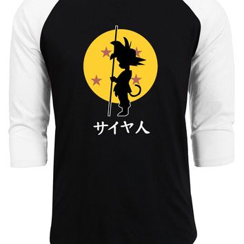 Dragon Ball Z kpop t shirts men raglan sleeve cotton casual homme funny tops 2018 summer autumn anime fitness hipster tops tee