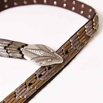 Ecote Metal Snake Belt- Black