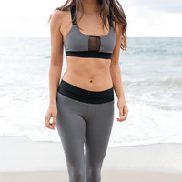 Blue Life Fit - Contrast Sports Bra | Gray