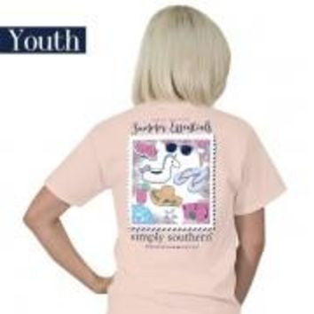 "Youth Simply Southern ""Preppy Essentials"" Short Sleeve Tee"