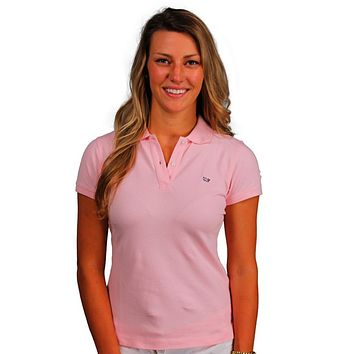 Women's Classic Polo in Flamingo Pink by Vineyard Vines, Featuring Longshanks the Fox