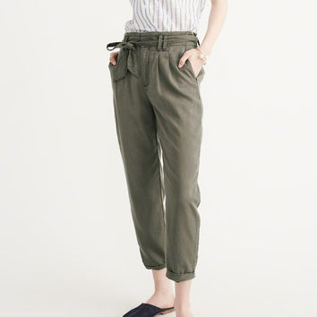 Womens Drapey Tie Waist Pants | Womens Bottoms | Abercrombie.com