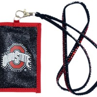 Rico Ohio State Buckeyes Beaded Lanyard Wallet
