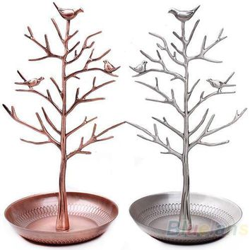 Jewelry Holders vintage Bird Tree Earring lace Ring Display 03XU