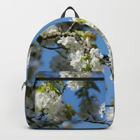 Cherry blossoms time in the garden Backpack by tanjariedel