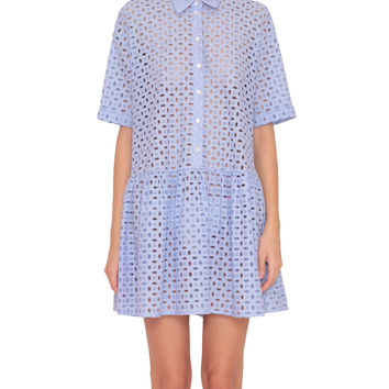 P.A.R.O.S.H. Cosangil sangallo cotton chemisier dress