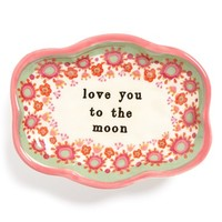 Natural Life 'Love You to the Moon' Ceramic Trinket Dish - Pink
