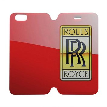 ROLLS ROYCE Wallet Case for iPhone 4/4S 5/5S/SE 5C 6/6S Plus Samsung Galaxy S4 S5 S6 Edge Note 3 4 5