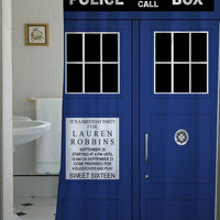 tardis dr who shower curtain that will make your bathroom adorable