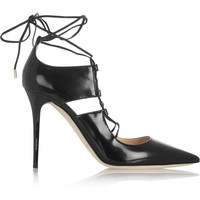 Jimmy Choo - Hoops patent-leather pumps