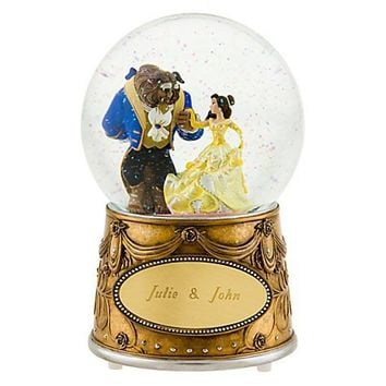 Personalized Beauty and the Beast Snowglobe | Snowglobes (Personalized) | Disney Store