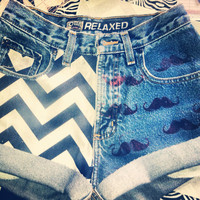 Ultimate Hipster Denim Shorts  by AngeliqueMerici on Etsy