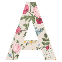 Spring Bouquet Patterned Letter Wall Decal