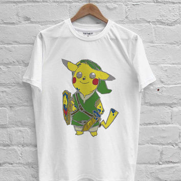pikachu pokemon zelda link T-shirt Men, Women, Youth and Toddler