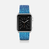 Rainbow Gradient Chunky Knit Pattern Band Apple Watch Band (42mm) by Micklyn Le Feuvre | Casetify