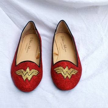 Wonder Woman Glitter Shoes