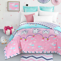 100% cotton lovely cat  pink summer quilt 150*200cm 200*230cm thin comforter bedding