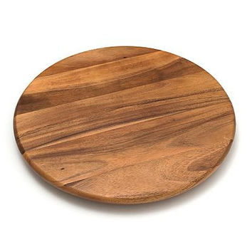 Lazy Susan...30 Inch Diameter...Three Oak Stained Wood Masterpiece - Handmade