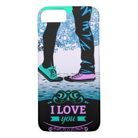 Cool Boy and girl love massage texture iPhone 8/7 Case