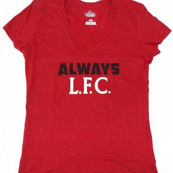 Liverpool Football Club LFC Majestic V Neck T Shirt Womens Size M