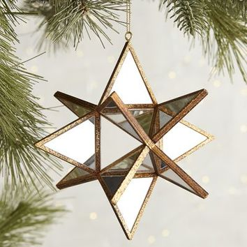 Multi Point Mirrored Star Ornament