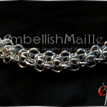 Elfweave Chainmaille Bracelet ~Classic Medieval / Renaissance Style bracelet. Great for men or women! Lead/Nickel Free. Customize for you1
