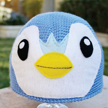 Piplup -ish Penguin Hat : Sooo Adorable Pokemon Inspired Japanese Crochet Beanie Hat