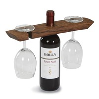 Wine Barrel Glass Caddy