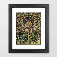 William Morris Tree Of Life Framed Art Print by Art Gallery | Society6