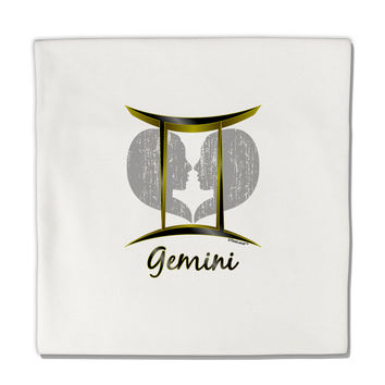 "Gemini Symbol Micro Fleece 14""x14"" Pillow Sham"