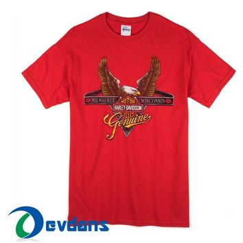 Eagle Harley Davidson T Shirt For Women And Men Size S To 3XL
