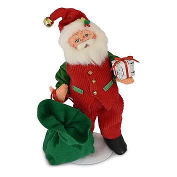 Annalee Dolls 9in 2018 Christmas Jinglebell Santa Plush New with Tags