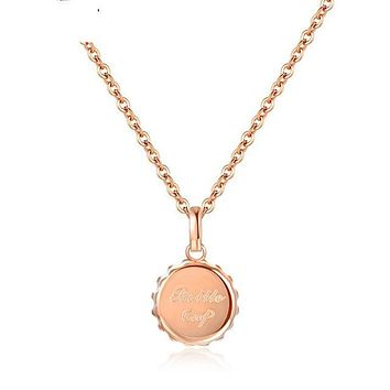 Bottle Cap Stainless Steel Necklace