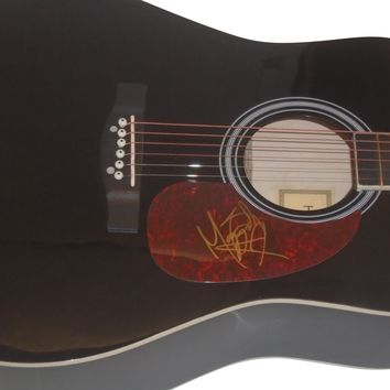 Maggie Baugh Autographed Full Size 41 Inch Country Music Acoustic Guitar, Proof Photo