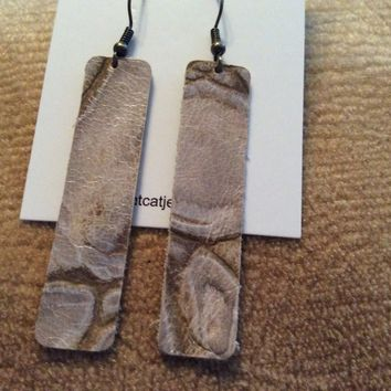 Fde1302 Handmade Leather Earrings