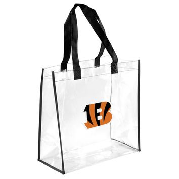 Cincinnati Begals Clear Reusable Plastic Tote Bag NFL 2017 Stadium Approved