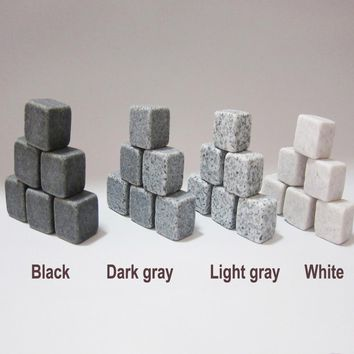 Natural Whiskey Stones Sipping Ice Cube Whisky Stone Whisky Rock Cooler Wedding Gift Favor Christmas Bar