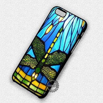 Tiffany Style Stained Glass Dragonfly - iPhone 7 6 5 SE Cases & Covers
