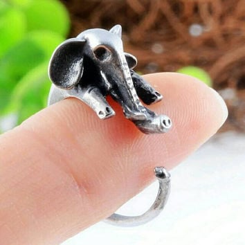 Elephant Ring - Statement Ring - Animal Jewelry - Adjustable Ring - Animal Ring - Valentines Day Gift - Stackable Ring - PREORDER